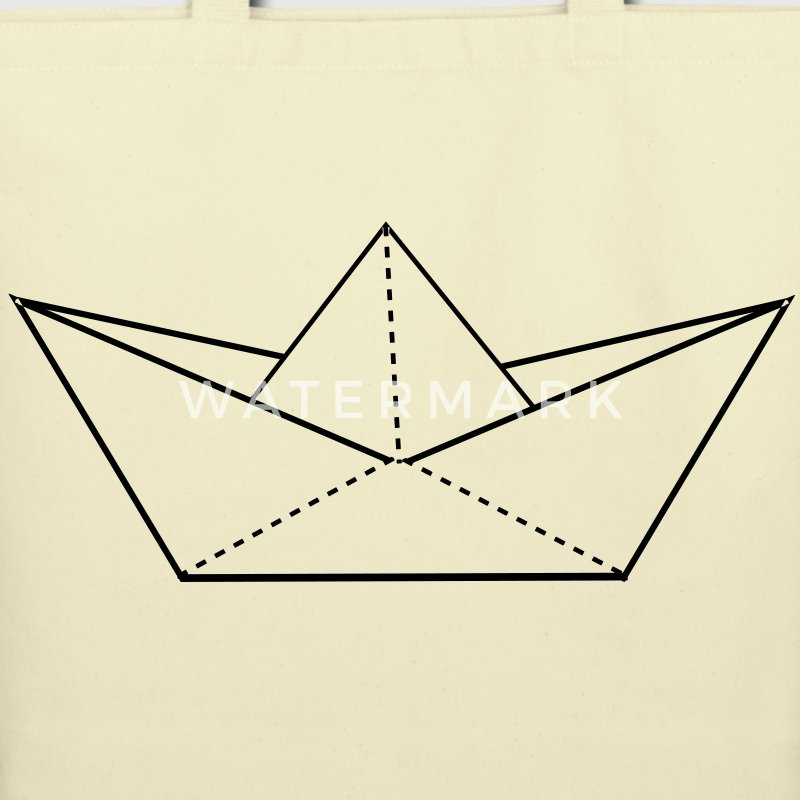 paper boat Bags  - Eco-Friendly Cotton Tote