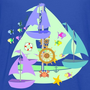 sailboats kid's hoodie - Women's Flowy Tank Top by Bella