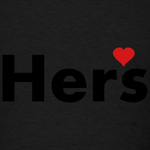 Hers - part of his and hers set Caps - Men's T-Shirt
