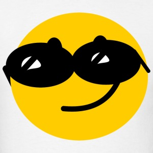 Flirty Cool Smiley face with sunglasses Hoodies - Men's T-Shirt