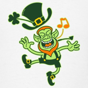 Leprechaun Dancing and Singing Bottles & Mugs - Men's T-Shirt
