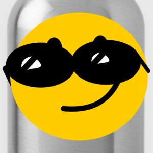 Flirty Cool Smiley face with sunglasses T-Shirts - Water Bottle