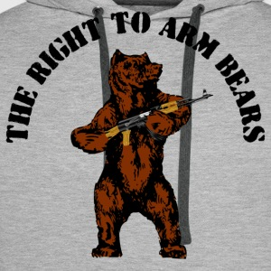 The right to arm bears - Men's Premium Hoodie
