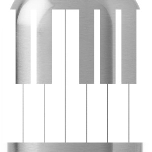Piano Keyboard TShirt - Water Bottle