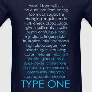 The Inspire Collection - Type One - Blue Long Sleeve Shirts - Men's T-Shirt