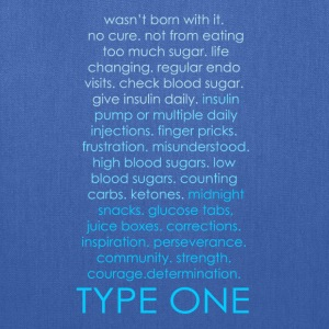 The Inspire Collection - Type One - Blue Long Sleeve Shirts - Tote Bag