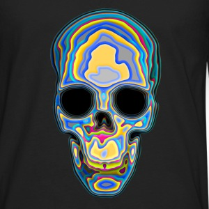 Psychedelic Colored Trippy Skull Design Women's T-Shirts - Men's Premium Long Sleeve T-Shirt
