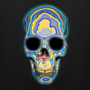 Psychedelic Colored Trippy Skull Design Women's T-Shirts - Men's Premium Tank