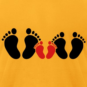 family feet Bags  - Men's T-Shirt by American Apparel