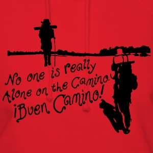 No one is alone on the Camino pilgrim Women's Scoo - Women's Hoodie