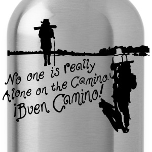 No one is alone on the Camino pilgrim Women's Scoo - Water Bottle