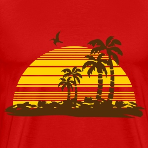 sunset island Hoodies - Men's Premium T-Shirt