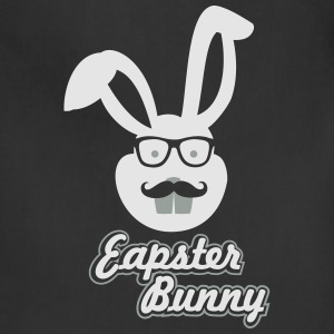 Easter Hipster Bunny T-Shirts - Adjustable Apron