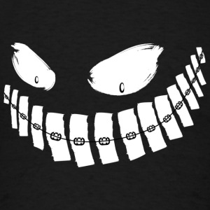 Scary Grin - braces - hoodie - Men's T-Shirt