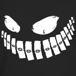 Scary Grin - braces - hoodie - Men's Premium Long Sleeve T-Shirt
