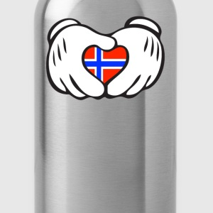 norway heart hand Hoodies - Water Bottle