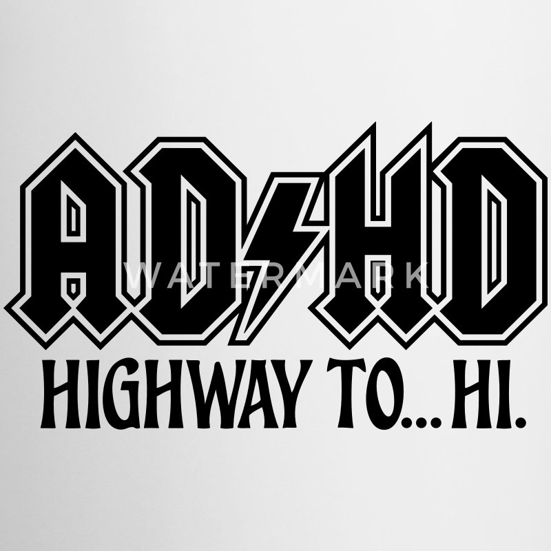 ADHD Highway to Hi Rock Music Logo Coffee Mug - Coffee/Tea Mug