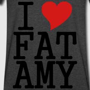 I Love Fat Amy Long Sleeve Shirts - Men's V-Neck T-Shirt by Canvas