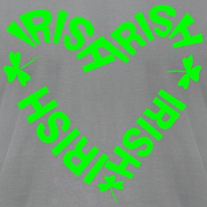 Irish Text Heart Long Sleeve Shirts - Men's T-Shirt by American Apparel