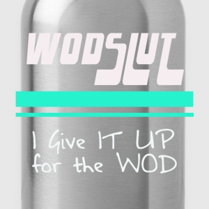 Wodslut Crossfit American Apparel tri-blend Blue - Water Bottle