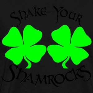 SHAKE YOUR SHAMROCKS Hoodies - Men's Premium T-Shirt