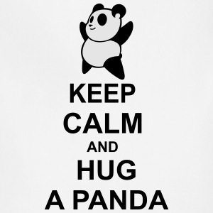 keep calm and hug a panda - Adjustable Apron
