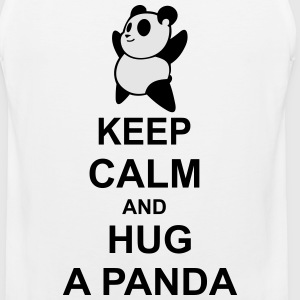 keep calm and hug a panda - Men's Premium Tank