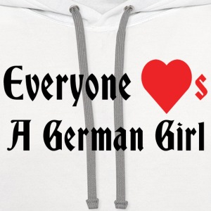 Everyone Loves A German Girl T-Shirt - Contrast Hoodie
