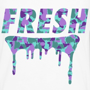 Fresh Drips Purple Camo Tee - Men's Premium Long Sleeve T-Shirt