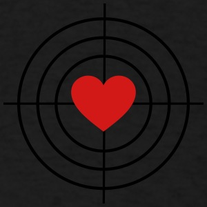 Heart is Target Caps - Men's T-Shirt