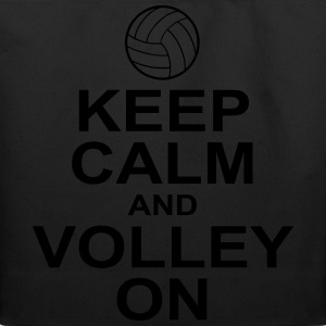 keep calm and volley on Women's T-Shirts - Eco-Friendly Cotton Tote