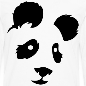 panda face - Men's Premium Long Sleeve T-Shirt