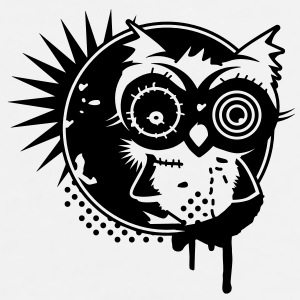 Graffiti Sticker with an owl - monochrome Bottles & Mugs - Men's Premium T-Shirt