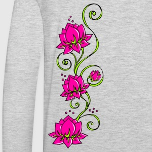 Lotus flowers, symbol perfection & balance Hoodies - Men's Premium Long Sleeve T-Shirt