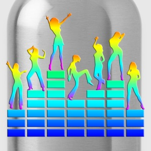 music - sound - equalizer - dancing girls T-Shirts - Water Bottle