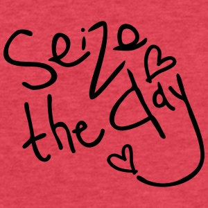 Seize the day Women's Flowy tank top by Bella - Fitted Cotton/Poly T-Shirt by Next Level