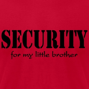Security for my little brother Tanks - Men's T-Shirt by American Apparel