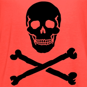 Skull and Crossbones / Jolly Roger T-Shirts - Women's Flowy Tank Top by Bella