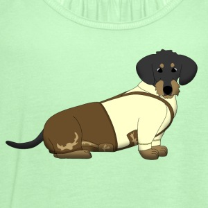bavarian dachshound with lederhose T-Shirts - Women's Flowy Tank Top by Bella