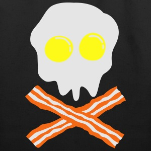 bacon & egg skull T-Shirts - Eco-Friendly Cotton Tote