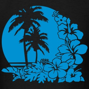 palm sunset ocean Hoodies - Men's T-Shirt