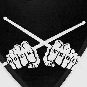 rock 'n' roll drummer fists Women's T-Shirts - Bandana