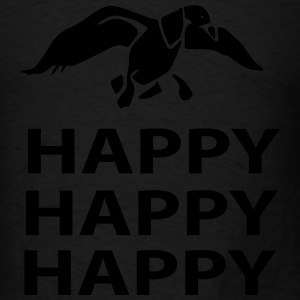 happy happy happy Long Sleeve Shirts - Men's T-Shirt