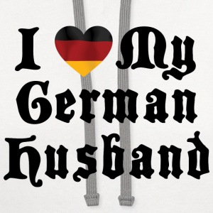 I Love My German Husband T-Shirt - Contrast Hoodie