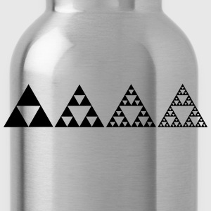 Sierpinski triangles - fractal Hoodies - Water Bottle