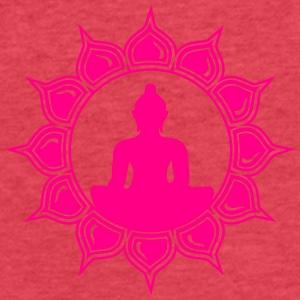 Meditation - buddha lotus - symbol enlightenment Tanks - Fitted Cotton/Poly T-Shirt by Next Level