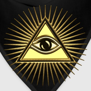 Pyramid & All-Seeing Eye - Symbol of Omniscience T-Shirts - Bandana