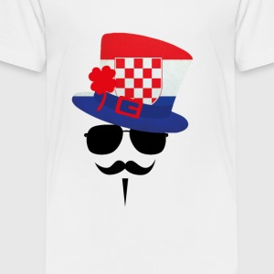 Croatia Go Moustache Kids' Shirts - Toddler Premium T-Shirt