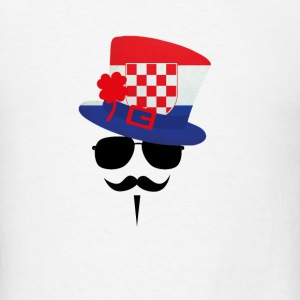 Croatia Go Moustache Accessories - Men's T-Shirt
