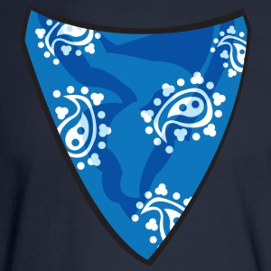 Blue Bandana Women's T-Shirts - Men's Long Sleeve T-Shirt